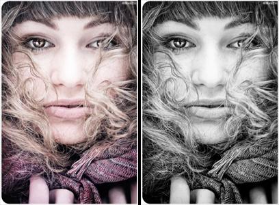Фотография девушки: создание цветного портрета Как сделать цветной портрет из черно-белого