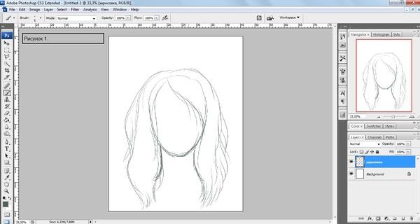 кисти для фотошопа пряди волос: